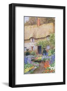 A Cottage Garden in Full Bloom by John Henry Garlick