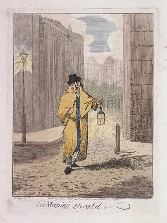 The Morning Herald' from Cries of London, 1826