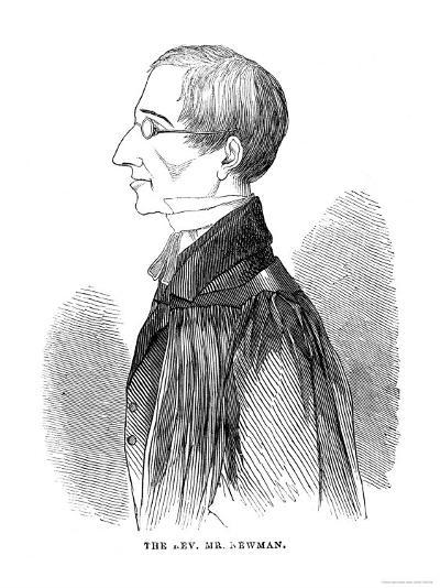 John Henry Newman Theologian Later a Catholic at Age 43--Giclee Print