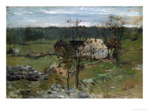 Farmhouse by John Henry Twachtman