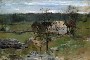 Farmhouse by John Henry Twachtman