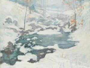 Icebound, C.1889 by John Henry Twachtman