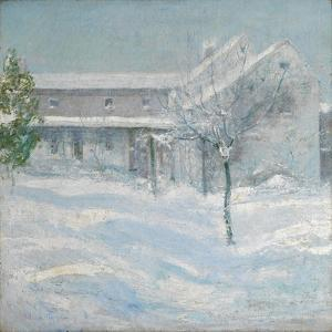 Old Holley House, Cos Cob, 1901 by John Henry Twachtman