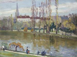 Parc Montsouris, Paris, 1889 by John Henry Twachtman
