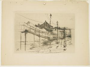 The Old Toll House at Bridgeport (Small Plate), 1888-1889 by John Henry Twachtman