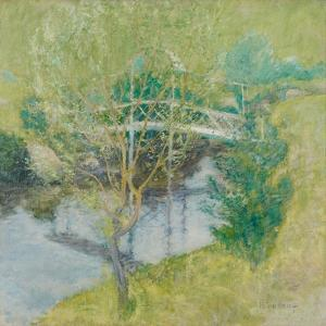 The White Bridge, C.1895 by John Henry Twachtman