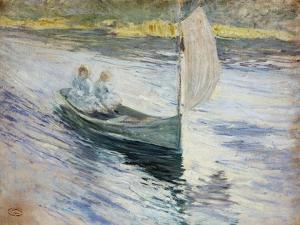 Two Children in a Sailboat, 1883 by John Henry Twachtman