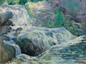 Waterfall, 1895-99 by John Henry Twachtman