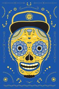 Hoops Skull Blue by John Hersey