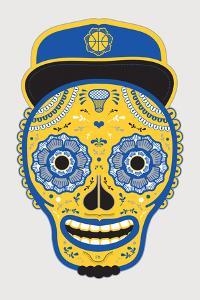 Hoops Skull White by John Hersey