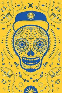 Hoops Skull Yellow by John Hersey