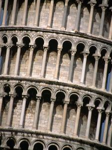 Arcades of the Leaning Tower of Pisa by John Heseltine