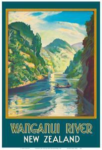 Wanganui River New Zealand - Gorge Boat Paddling by John Holmwood