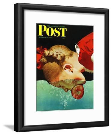 """""""Bobbing for Apples,"""" Saturday Evening Post Cover, October 30, 1943"""
