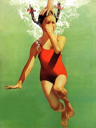 """Dunked Under Water,"" August 9, 1941 by John Hyde Phillips"