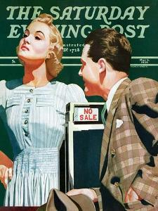 """""""'No Sale',"""" Saturday Evening Post Cover, May 6, 1939 by John Hyde Phillips"""