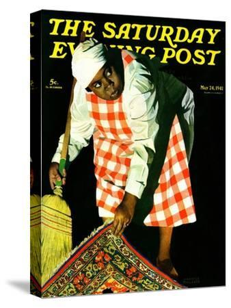"""Sweep it Under the Rug,"" Saturday Evening Post Cover, May 24, 1941"