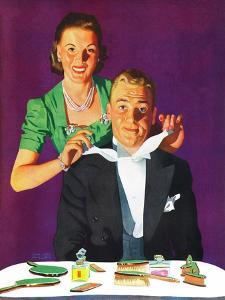 """Tying a Tux Tie,"" April 26, 1941 by John Hyde Phillips"