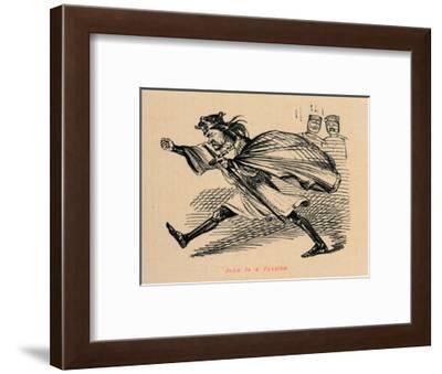 'John in a Passion', c1860, (c1860)-John Leech-Framed Giclee Print