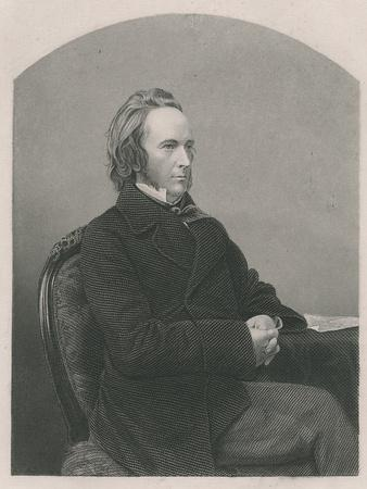 George John Douglas Campbell, 8th Duke of Argyll, Engraved by D.J. Pound from a Photograph