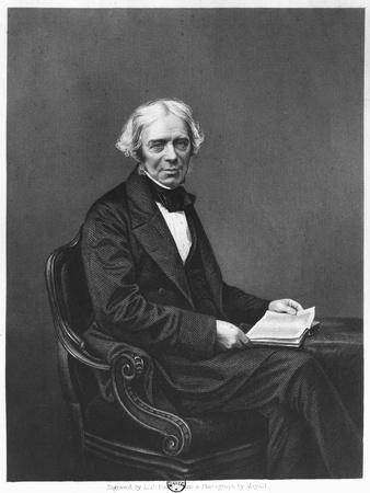 Portrait of Michael Faraday (1791-1867) Engraved by D.J. Pound from a Photograph