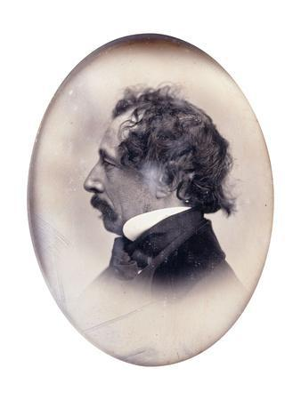 Profile Portrait of a Gentleman, Identified as Charles Dickens, C.1853-1855