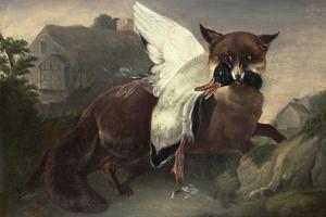 Fox and Goose, C.1835 by John James Audubon