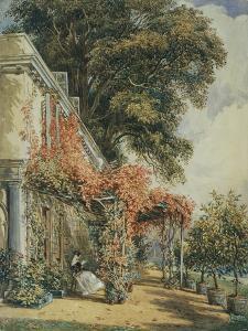Mrs. Robert Vernon's House at Twickenham, Middlesex, England by John James Chalon