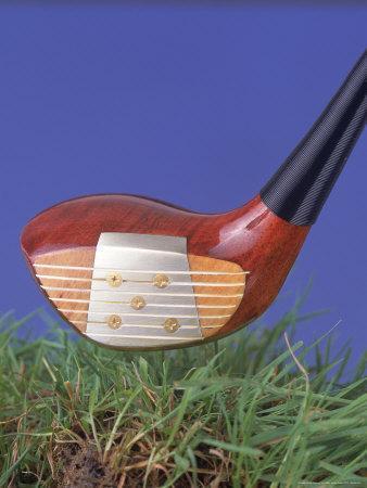 Golf Club Above Grass