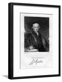John Julius Angerstein (1735-182), English Philanthropist and Merchant-Scriven-Framed Giclee Print