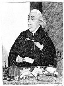 Joseph Black, Scottish Chemist, 1787 by John Kay