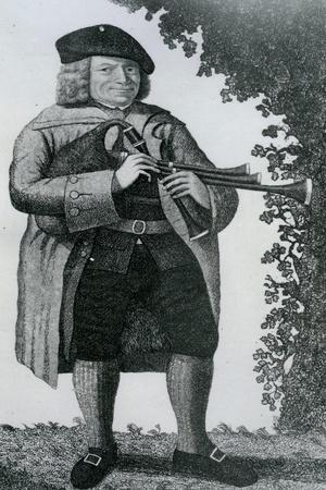 Old Geordie Sime, a Famous Piper in His Time', 1789