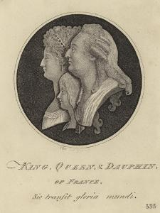 The King, Queen and Dauphin of France by John Kay