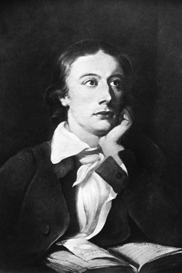 John Keats, English Poet, 19th Century-William Hilton-Giclee Print