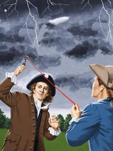 Benjamin Franklin Experimenting with Lightning by John Keay