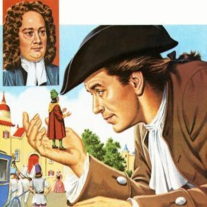 Gulliver's Travels, with Inset of its Author Jonathan Swift by John Keay