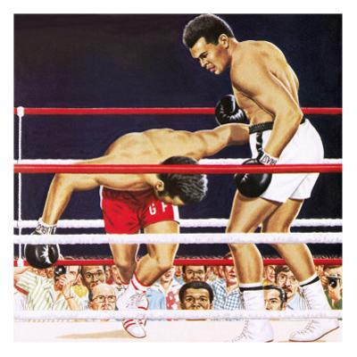 Muhammad Ali Regaining His Crown in the Fight Against George Foreman in 1974