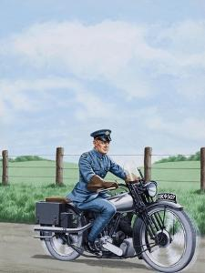T E Lawrence on His Motorcyle by John Keay