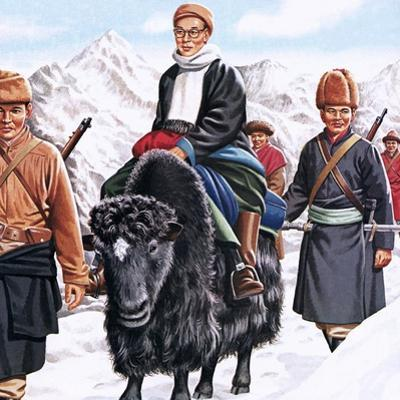 The Young Dalai Lama Fleeing the Chinese by John Keay