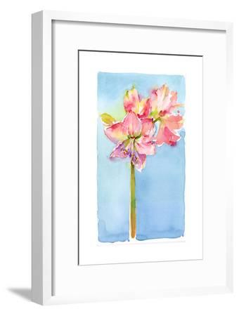 Amaryllis with Aqua Background, 2015