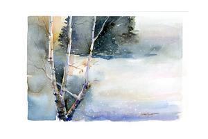 Birch in Winter, 2015 by John Keeling
