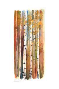Birches in Autumn, 2013 by John Keeling