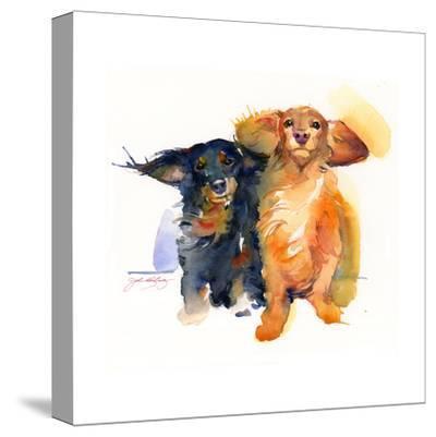 Dacshund Duo, 2014 by John Keeling