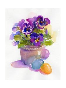 Pansies with Easter Eggs, 2014 by John Keeling