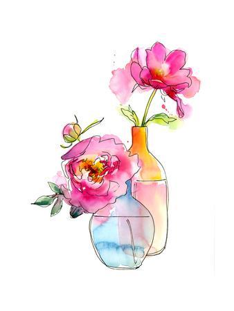 Peony in Vases, 2016