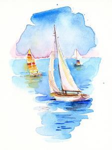 Sailboats, 2017 by John Keeling