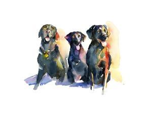 Three Black Labs, 2015 by John Keeling