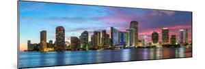 Florida, Miami Skyline at Dusk by John Kellerman
