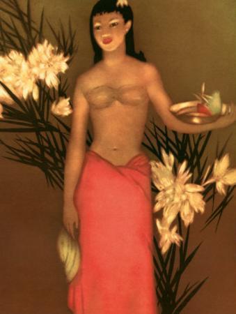 Banana Girl, Royal Hawaiian Hotel Menu, c.1950 by John Kelly