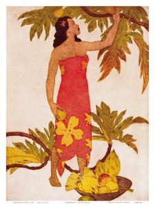 Breadfruit, Royal Hawaiian Hotel Menu Cover c.1950s by John Kelly